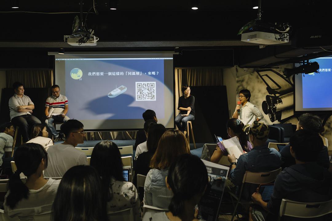 《端傳媒》台北舉辦媒體茶敘現場。 攝:Tseng Lee / 端傳媒
