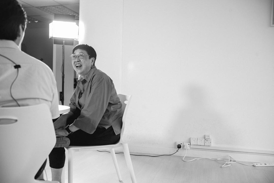 電影導演許鞍華與詩人陳滅對談。