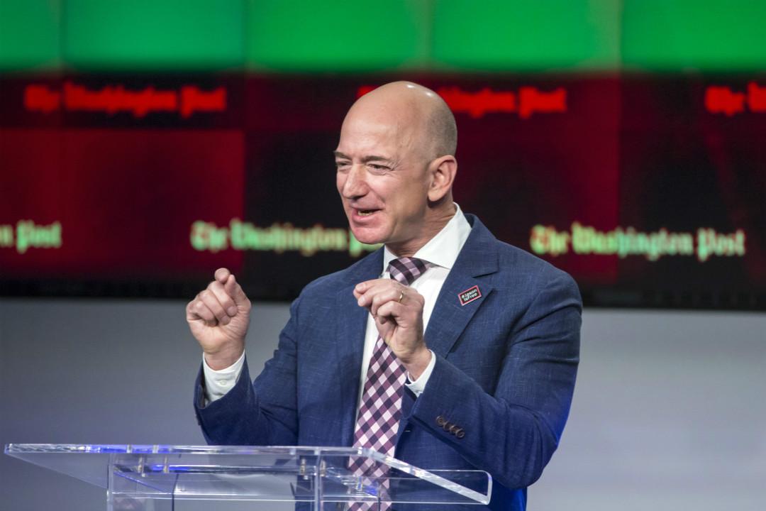 亞馬遜創始人兼 CEO 貝索斯(Jeff Bezos)。 攝:Imagine China