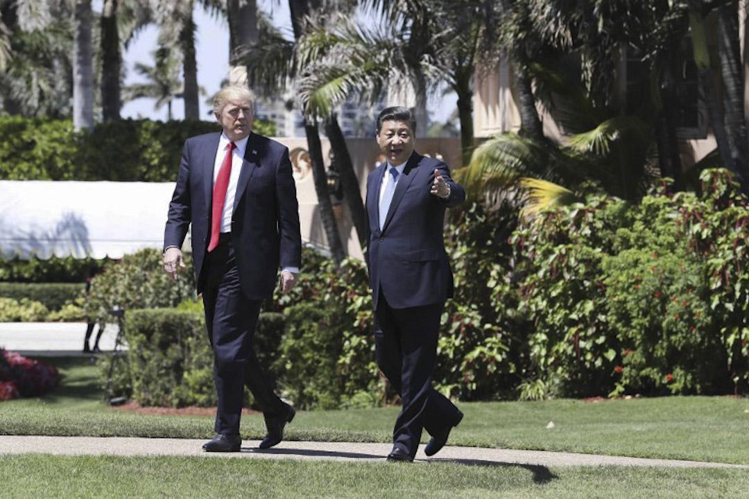 美國總統特朗普(川普)4月在海湖莊園與中國國家主席習近平會晤。