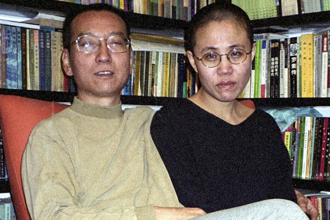 劉曉波和妻子劉霞。