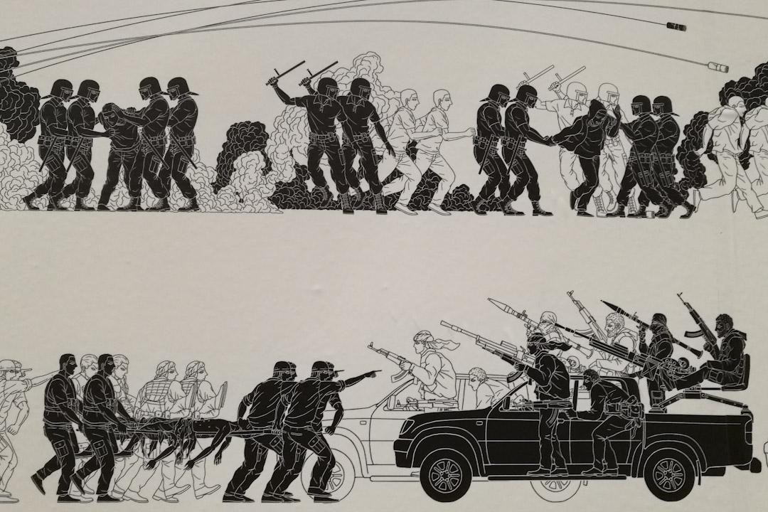 以色列博物館展出的艾未未新作品,壁紙《奧德賽》。