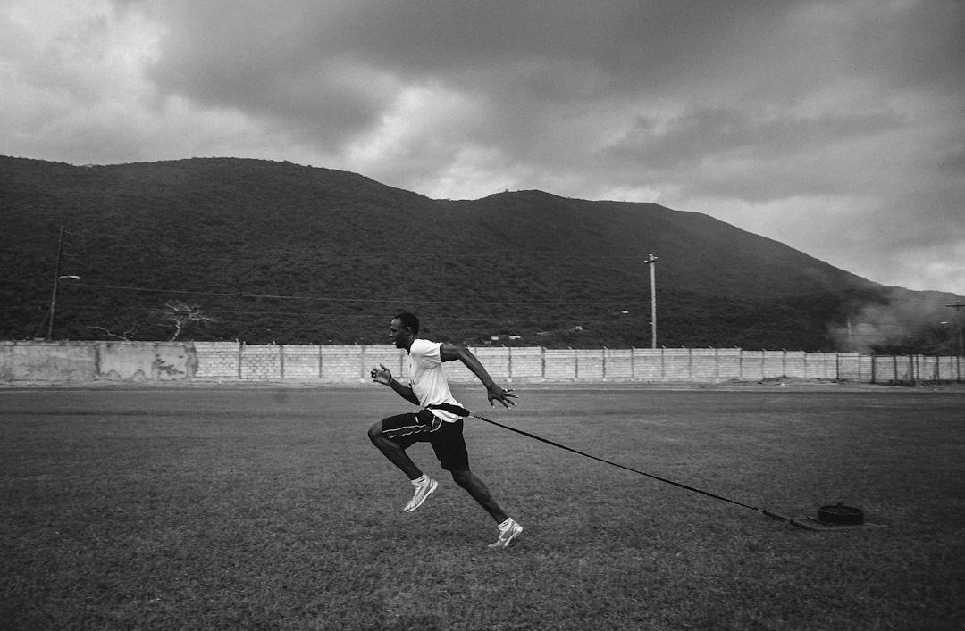 2006年10月18日,保特在家鄉牙買加首都金斯敦為短跑比賽訓練。