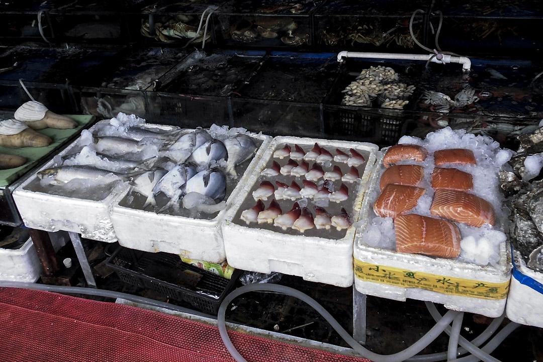 上海銅川市場售賣新鮮的漁產。