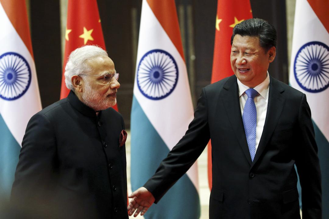 2015年5月14日,印度總理莫迪和中國國家主席習近平在西安進行會面。