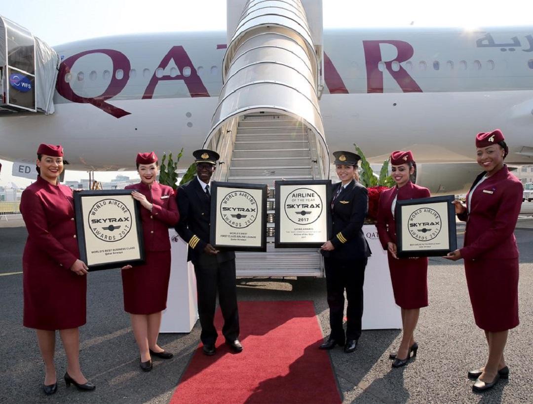 卡達航空自2011年以來,已四度奪得Skytrax 年度全球最佳航空公司冠軍 。