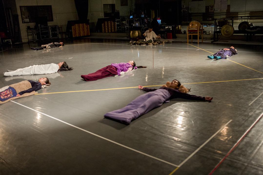 音樂形體劇場《觀自在》採排情況。