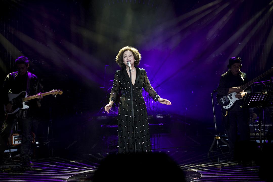 杜麗莎,香港菲律賓混血兒,香港資深實力派女歌手。六十年代起活躍於香港樂壇,代表作有《眉頭不再猛皺》、《仍然記得嗰一次》、《假如》等。杜麗莎亦為知名歌唱老師,許多香港歌手都出自其門。 攝:Imagine China