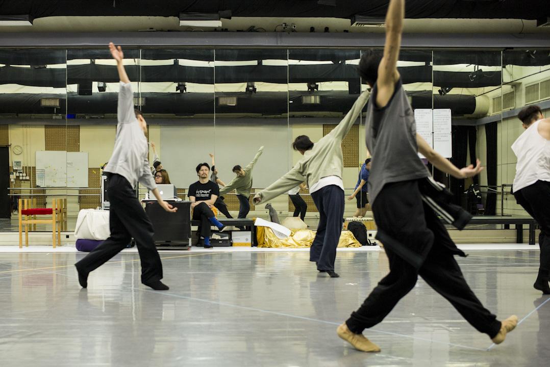 音樂形體劇場《觀自在》採排情況。 攝:林振東/端傳媒