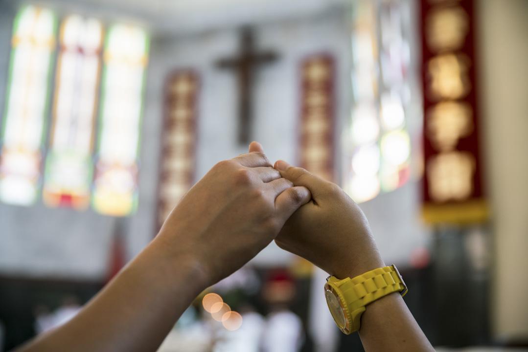 天主教新竹教區的北大堂的英語彌撒。