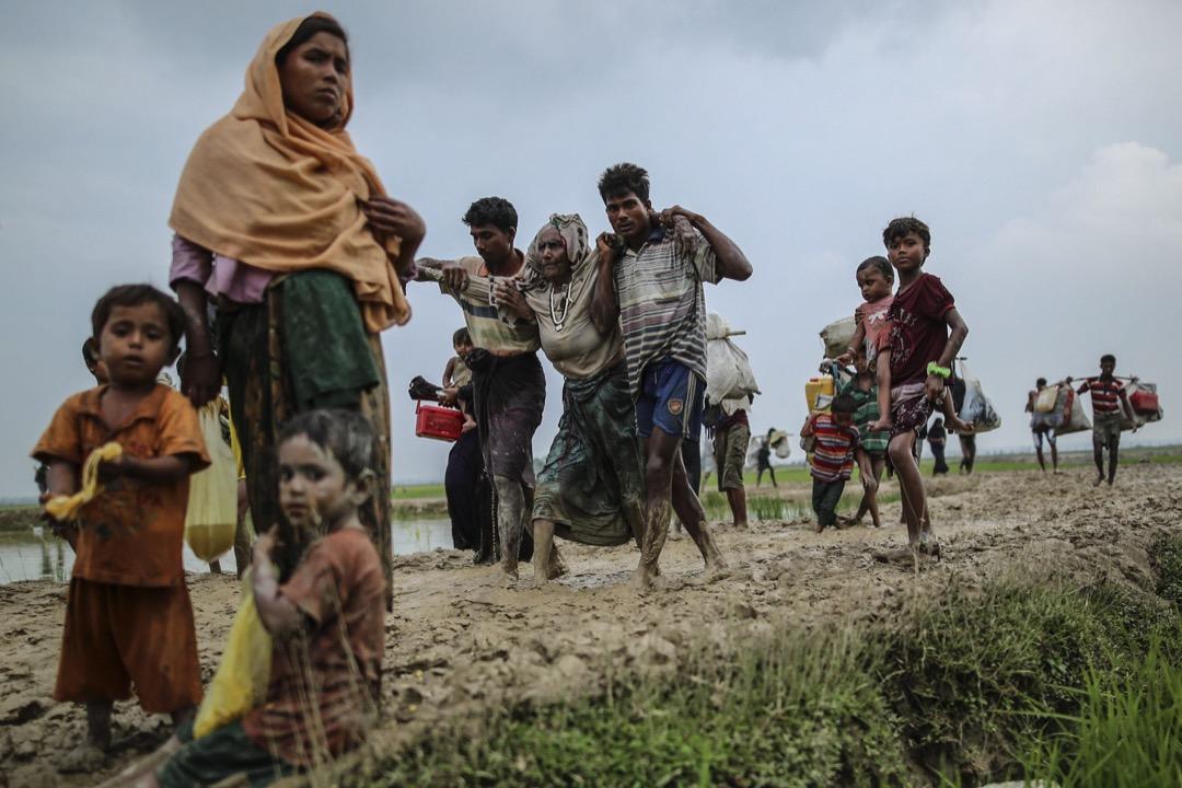 2017年9月3日,羅興亞人正逃離緬甸前往孟加拉。