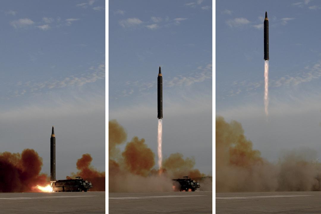 2017年9月16日,北韓於早上進行第16次導彈試射,飛越日本北海道上空。