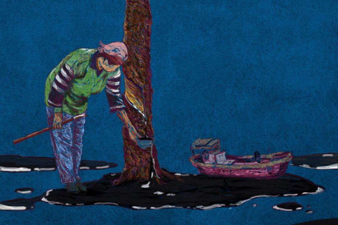 當時分別只有23歲和20歲的的父親母親,從廣東省的汕頭港乘輪船到海南,被分配到不同的山溝,種植橡膠。一待就是十年。他們沒有「朋友圈」,只有割橡膠的鐵圈。 圖:Tsengly / 端傳媒