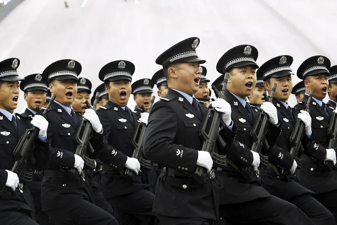 2017年8月30日,公安在四川德陽進行的反恐演習。 攝: An Yuan/CHINA NEWS SERVICE/VCG via Getty Images