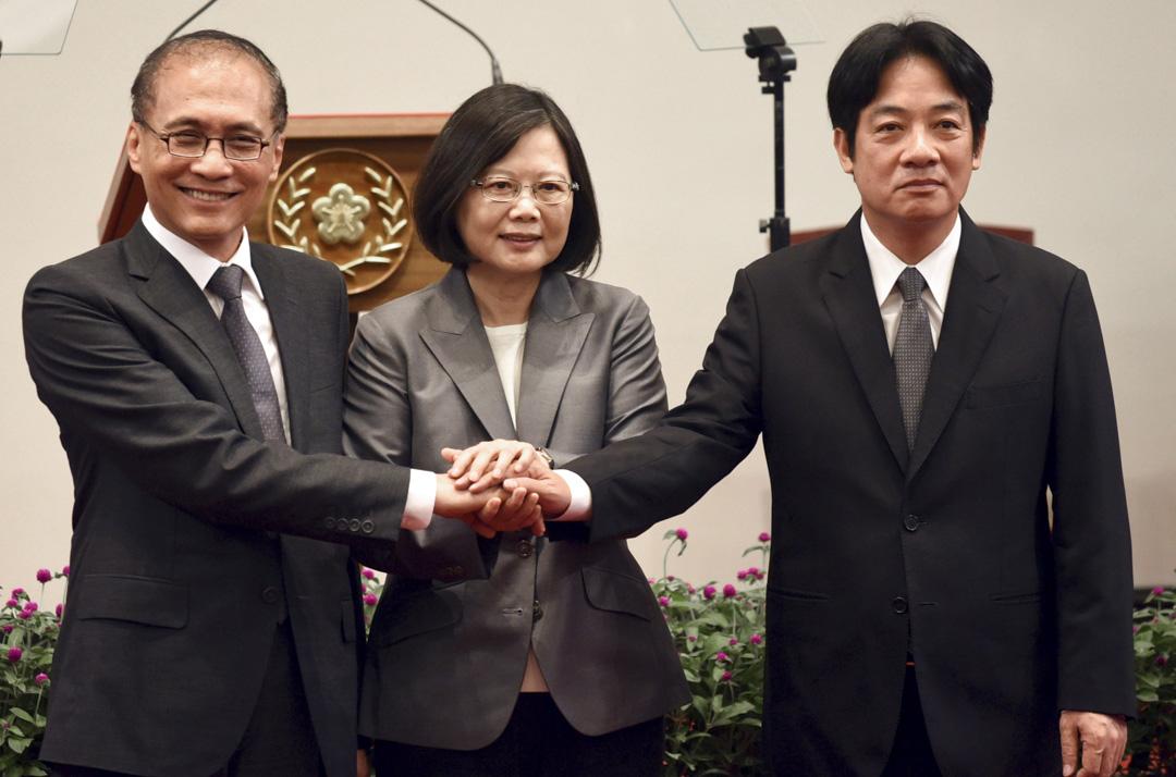 台灣總統蔡英文9月5日召開記者會,宣布批准原閣揆林全的請辭,新任行政院長由原台南市長賴清德接任。 攝:Yeh.G.E / Reuters