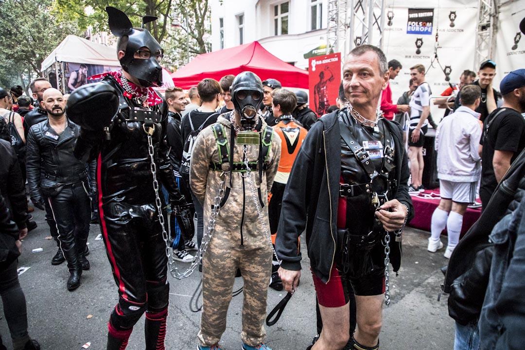 2017年9月9日,德國柏林舉行Europe Folsom Street fair,不少參加者穿上皮革和帶上SM道具參與。 攝:Emmanuele Contini/NurPhoto via Getty Images