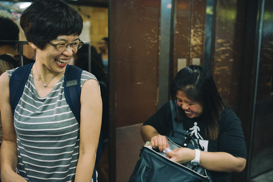 中大人類學學者陳如珍與菲傭Leeh Ann。