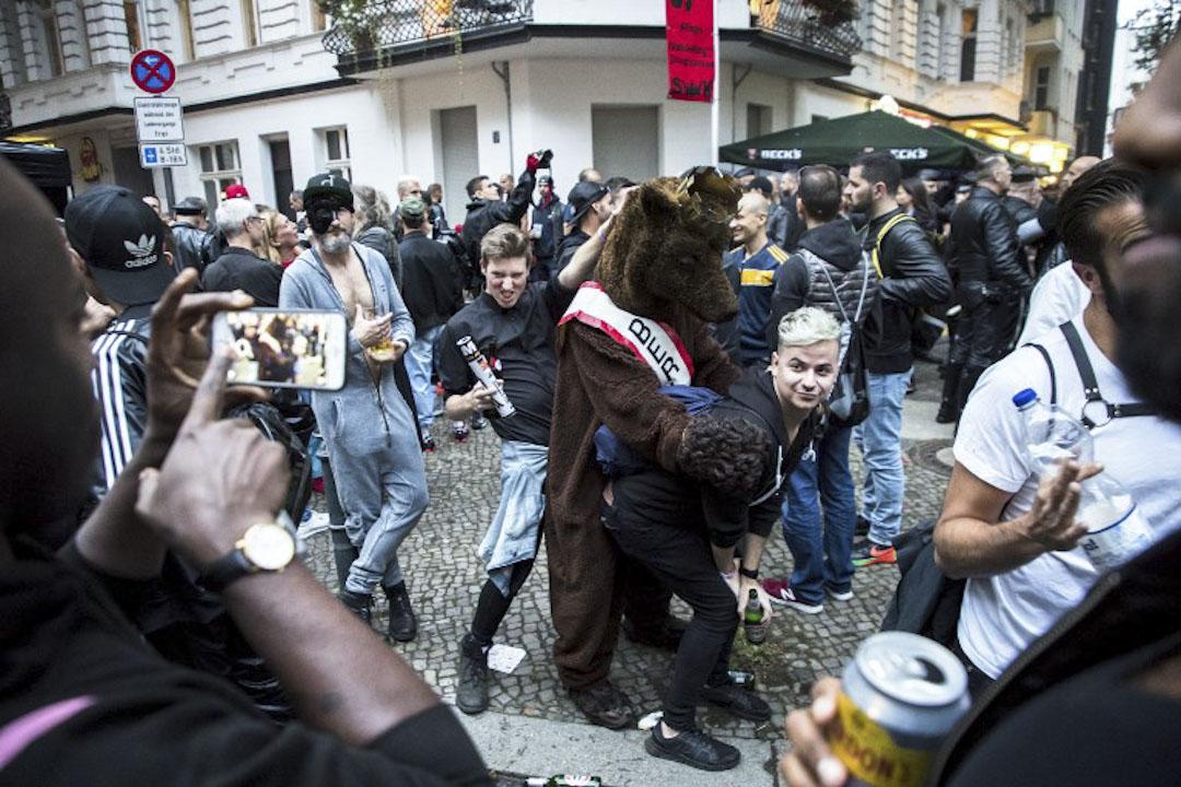 2017年9月9日,德國柏林舉行Europe Folsom Street fair,參加者表現興奮。