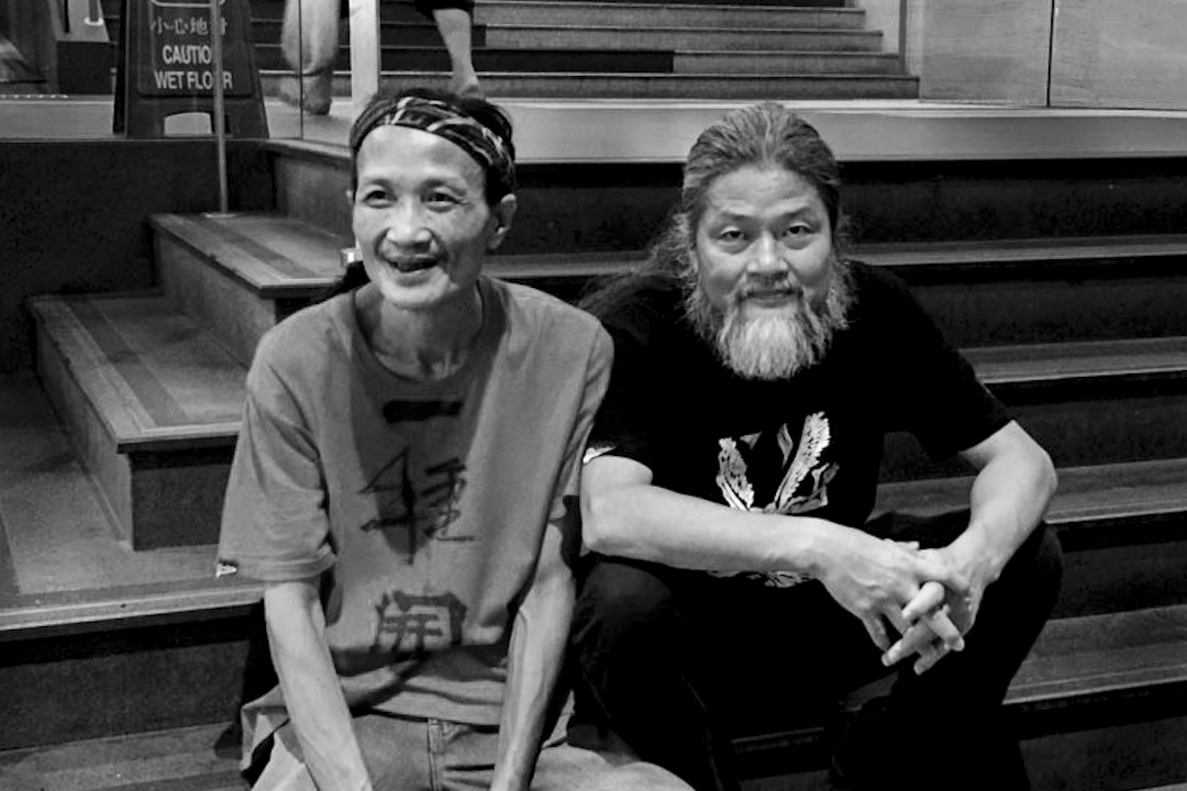 廣州詩人浪子(左)和詩人孟浪。 網上圖片