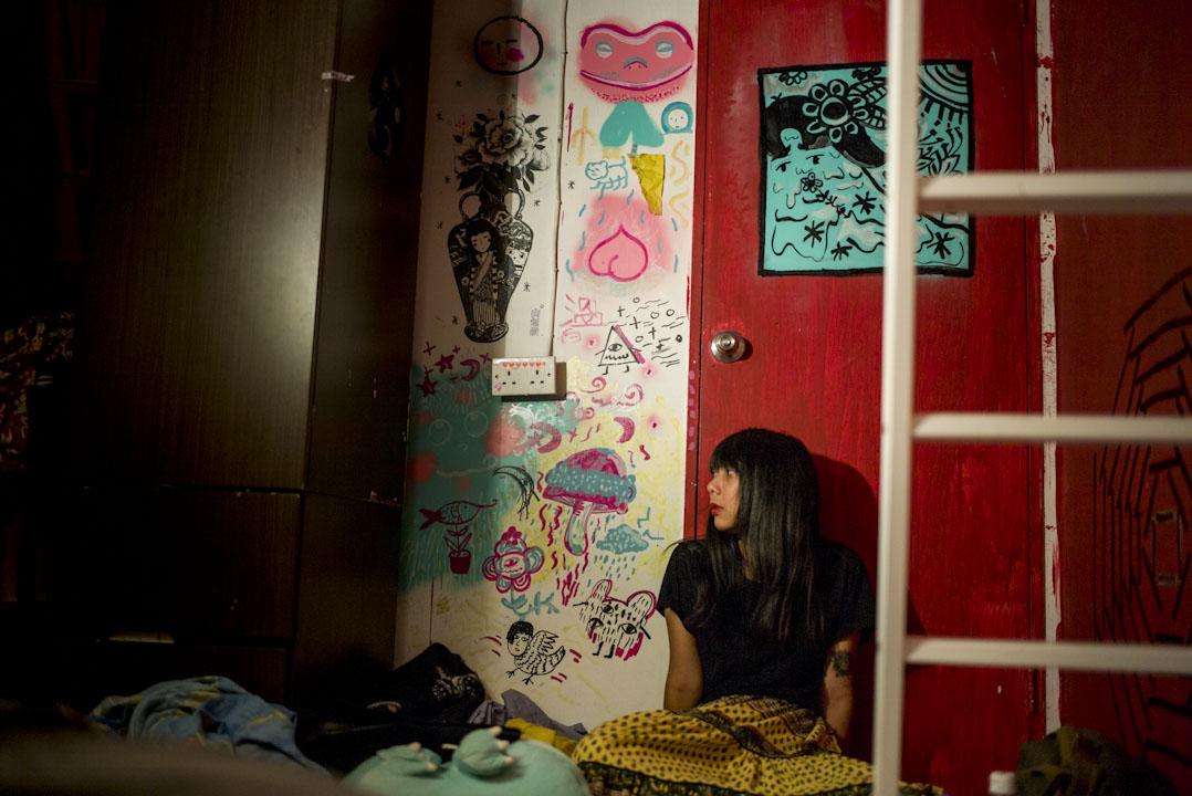 21歲的阿琳是反東北案判刑中其中一位判囚社運人士劉國樑的女朋友。