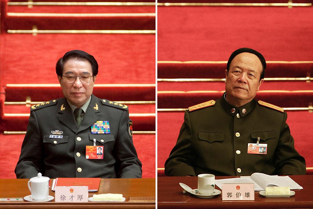 徐才厚、郭伯雄兩位頗具實權的軍委副主席於習近平掌政後先後落馬。