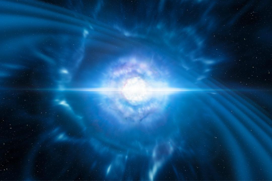 2017年10月16日,全球數十家天文機構宣布人類首次觀測到中子星併合產生引力波事件。 攝:M. Kornmesser/Imagine China