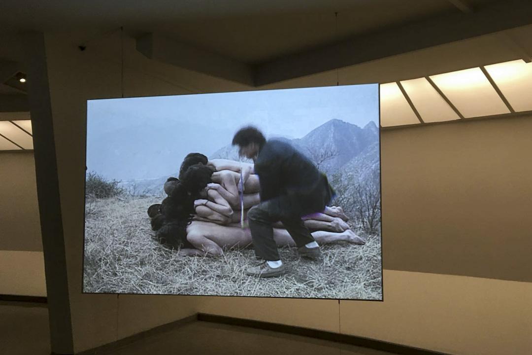 東村藝術家的《為無名山增高一米》。
