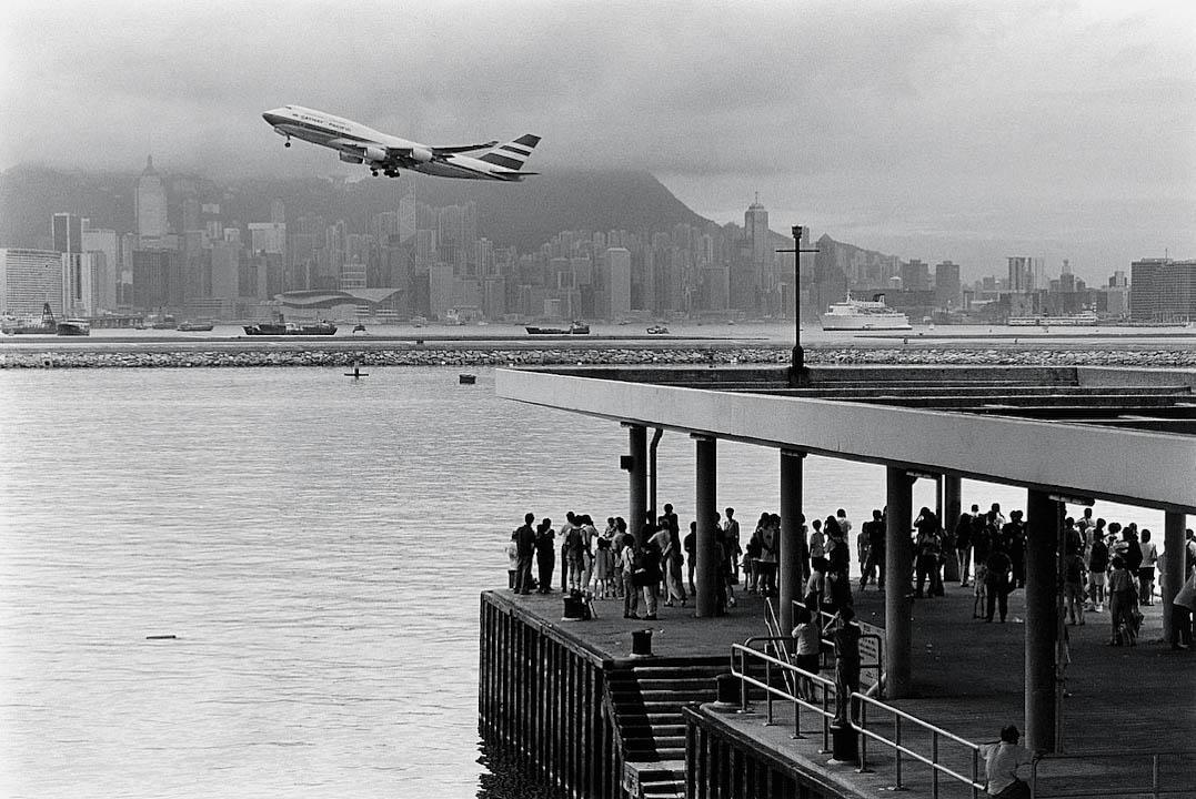 1998年,啟德機場的最後一天。