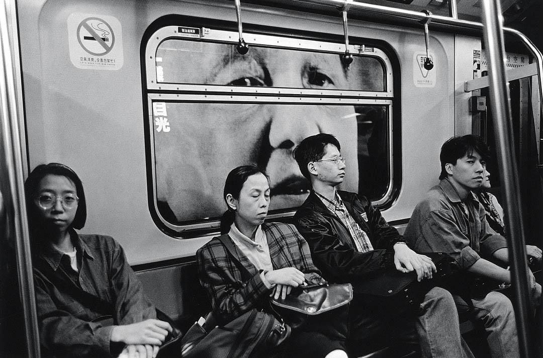 1994年,鄧小平在「地下鐵」。