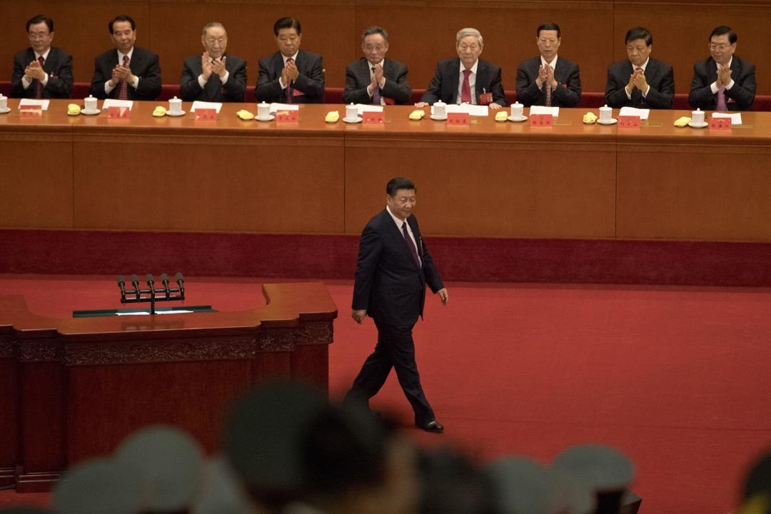 中共第十九次全國代表大會今早9時在北京人民大會堂開幕。 攝:Ng Han Guan/AP