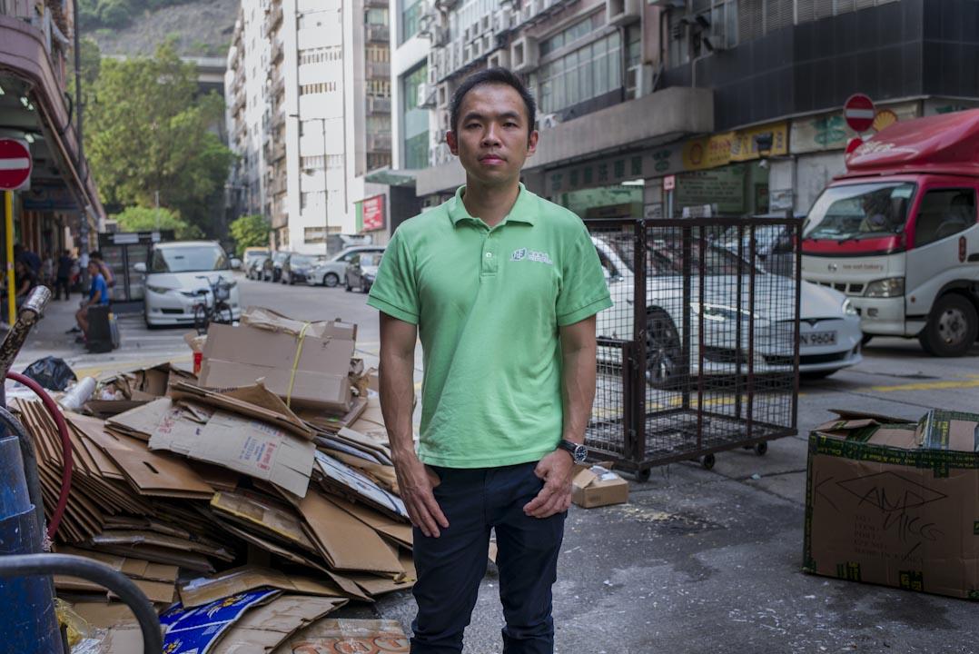 香港廢塑料協會副會長黃頴灝。