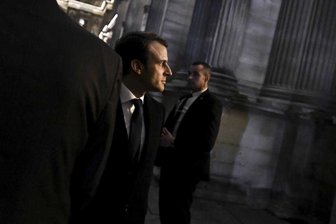 馬克龍於2017年法國總統選舉中勝出,以39歲之齡成為法國史上最年輕的總統。 攝:Philippe Lopez/AFP/Getty Images