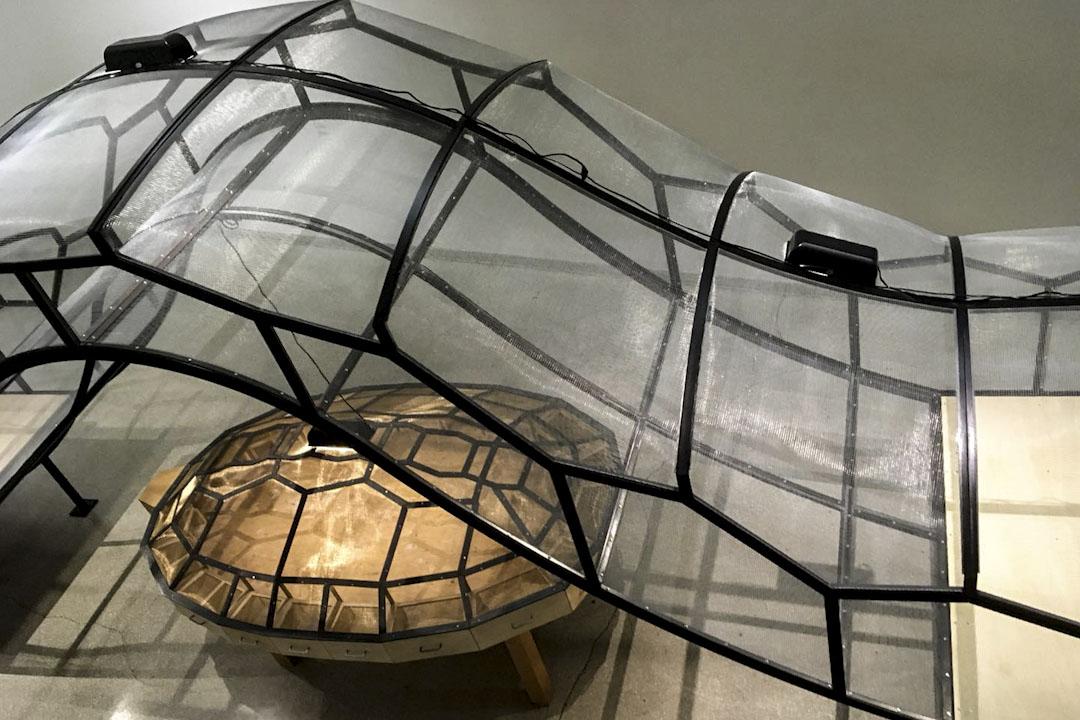 黃永砯1993年作品「世界劇場」和1995年作品「橋」 因遭到嚴重抗議,兩件作品裏的動物被移出。