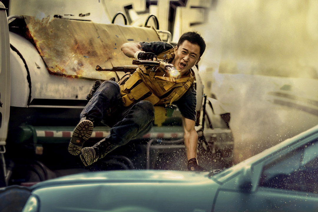 《戰狼2》劇照。  圖片來源:Imagine China