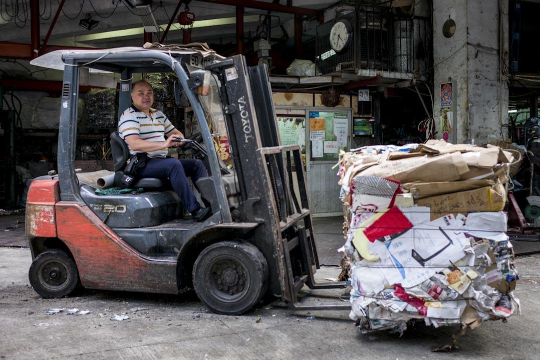 香港環保回收業總商會主席羅耀荃。