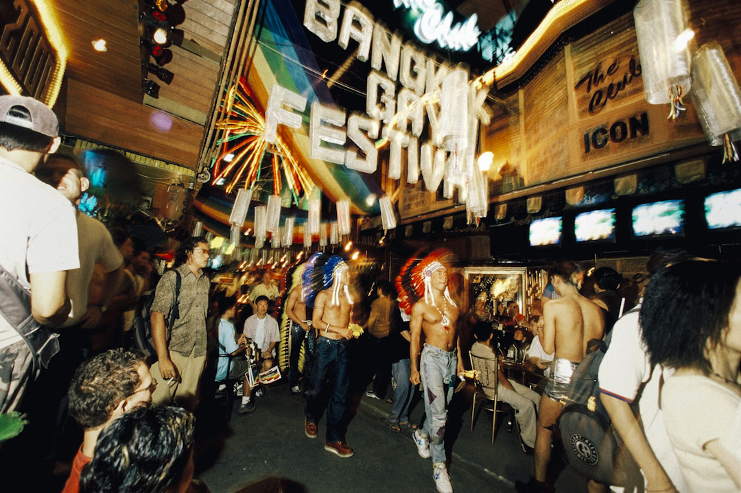 泰國曼谷酒吧行舉行的一個同志活動。