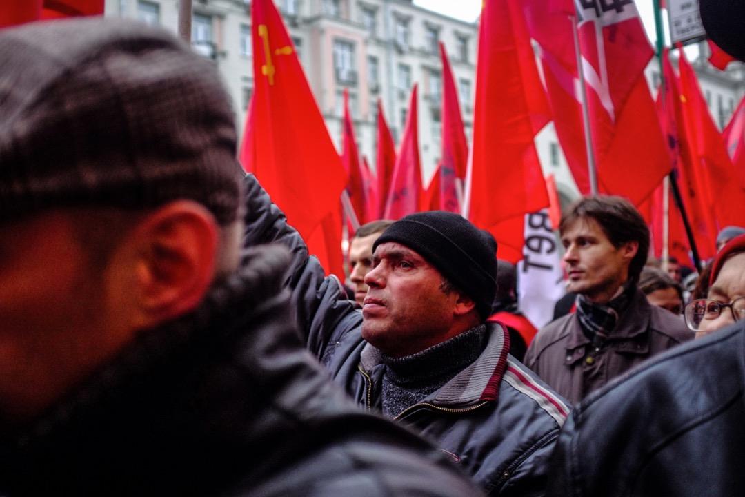 2017年11月7日,俄共和其他左翼團體舉行十月革命百週年紀念遊行。