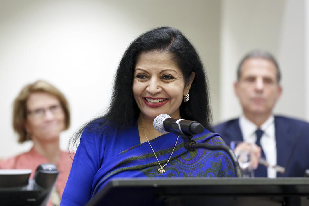 聯合國助理秘書長、婦女署副執行主任普里(Lakshmi Puri)。 圖片提供:UN Women