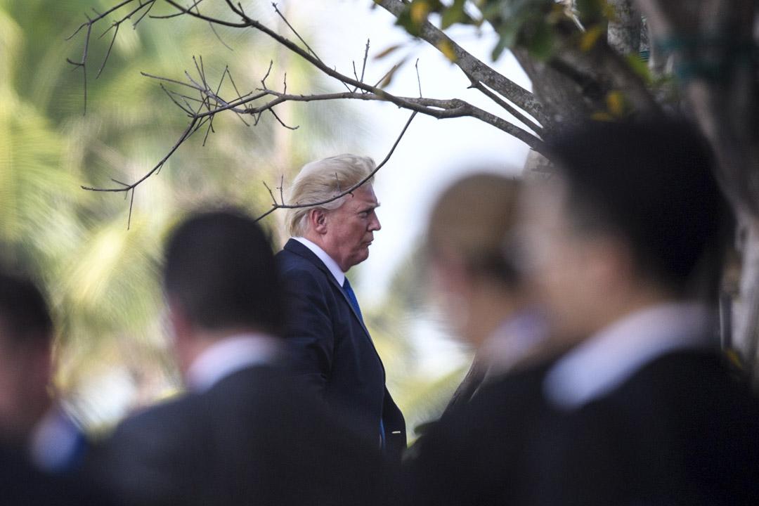 2017年11月10日,亞太經濟合作組織峰會在越南城市峴港舉行,美國總統特朗普於峰會最後一天前來發表演說。