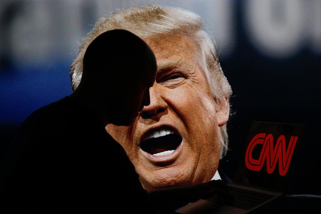 自去年競選總統以來,特朗普曾多次激烈批評 CNN 的報導,甚至形容 CNN 為「美國人民的公敵」。 攝:Jaap Arriens / Getty Images
