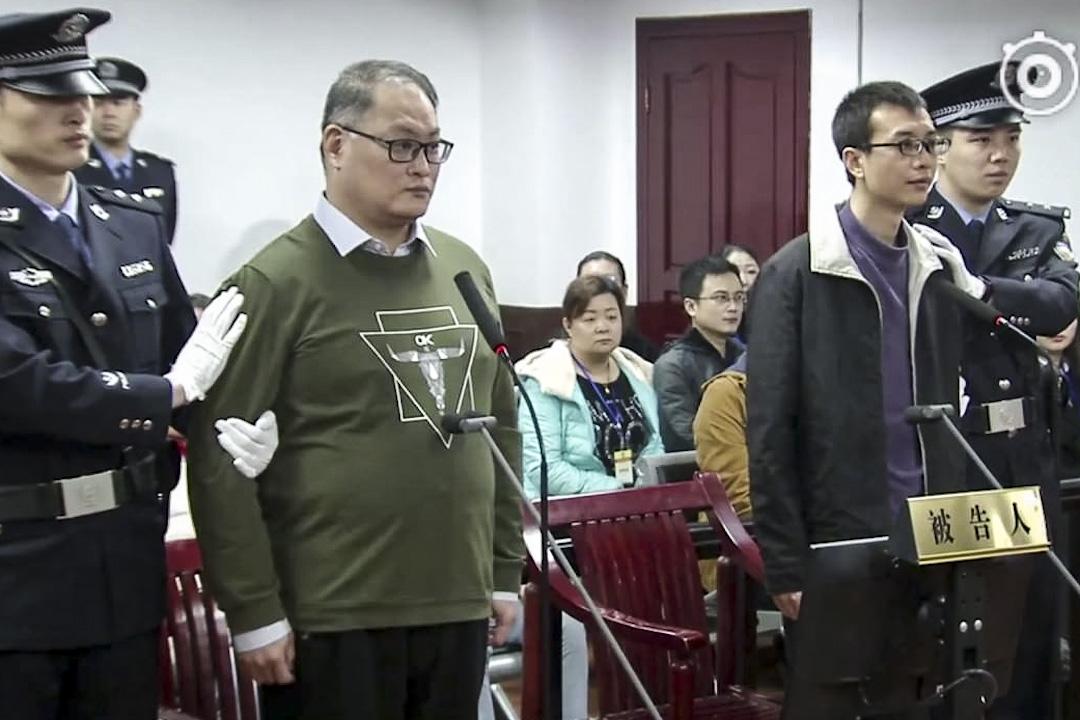2017年11月28日,台灣民進黨前黨工、NGO工作人員李明哲,在中國大陸被指控「顛覆國家政權」一案,在湖南岳陽中級人民法院宣判。法院認為他有認罪悔罪,判5年有期徒刑,剝奪政治權利2年。 圖片來源:湖南岳陽市中級人民法院