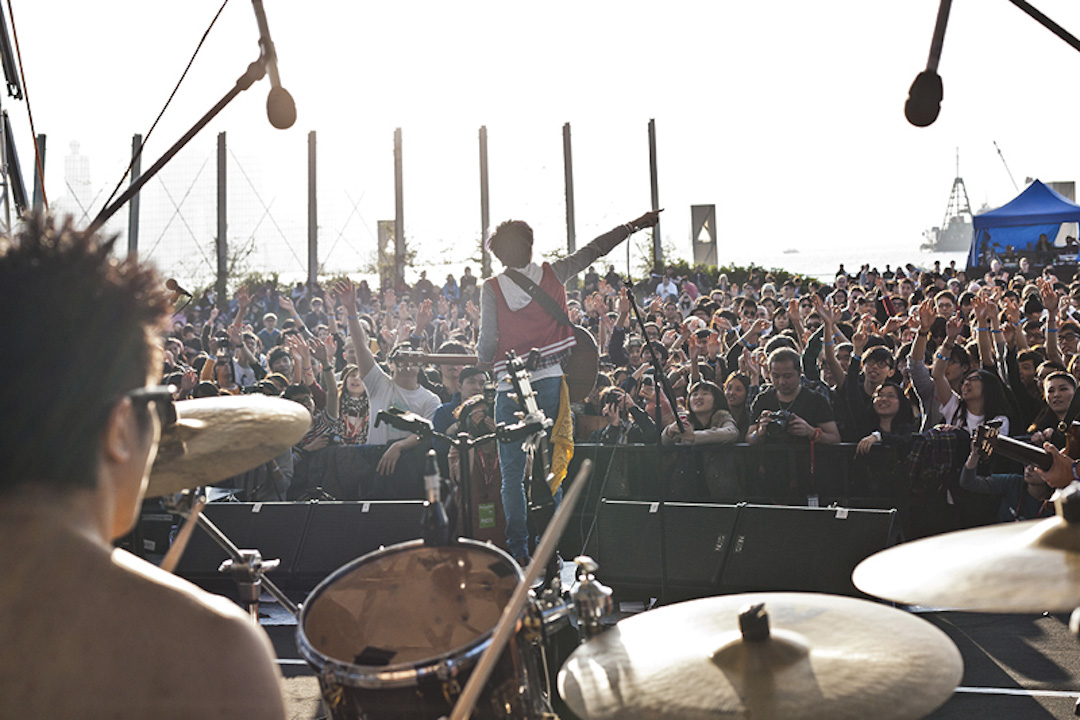 音樂文化節Clockenflap,曾經在西九龍文化區戶外地方舉行。