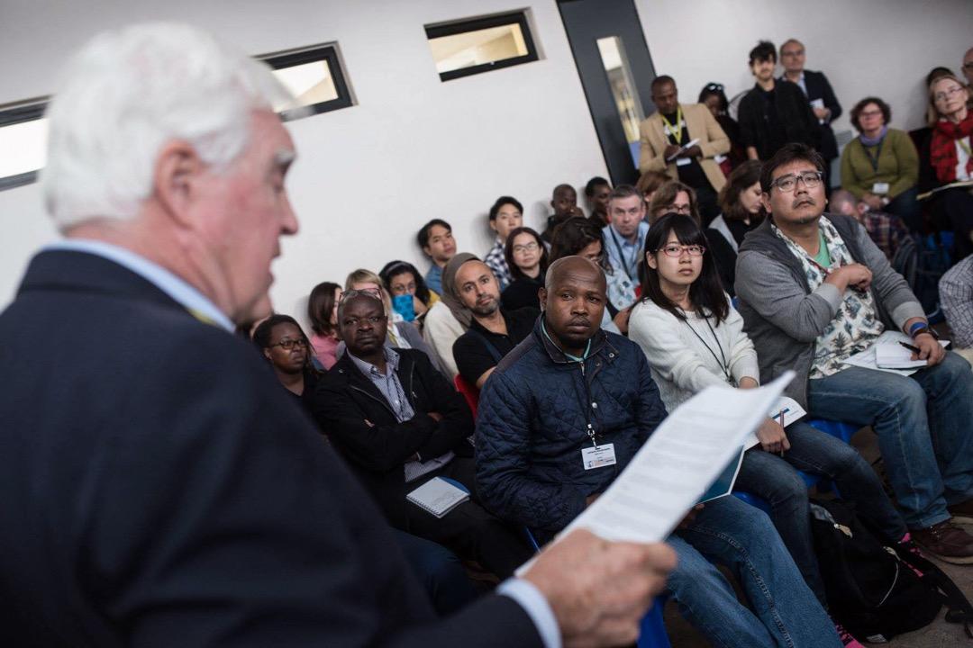 為期4天的全球深度報導大會今年於南非約翰內斯堡的金山大學舉行,吸引了1200多名來自非洲、亞洲、歐美等130個國家的調查報導記者參與。 攝:Daylin Paul/Global Investigative Journalism Network Facebook