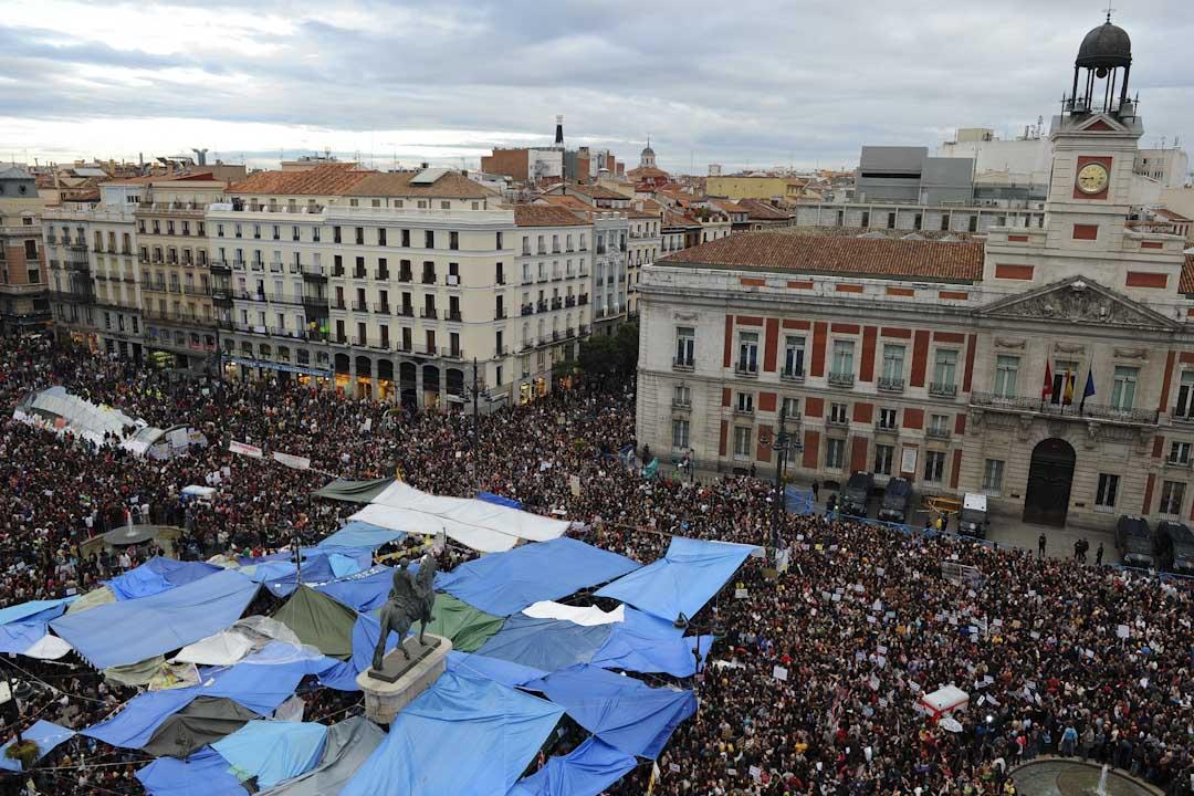 2011年,西班牙的反對資本主義體系的「憤怒者運動」。