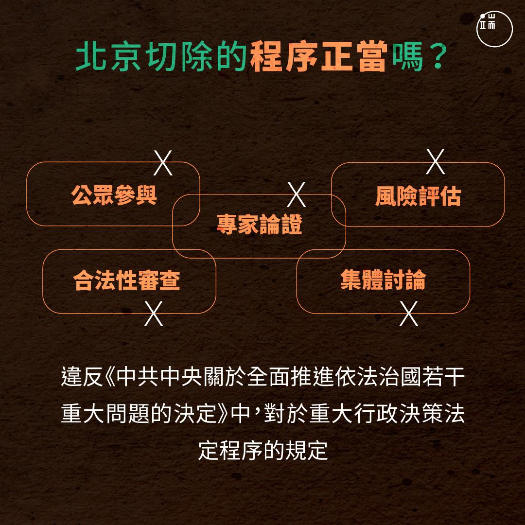 「北京切除」程序正當嗎?