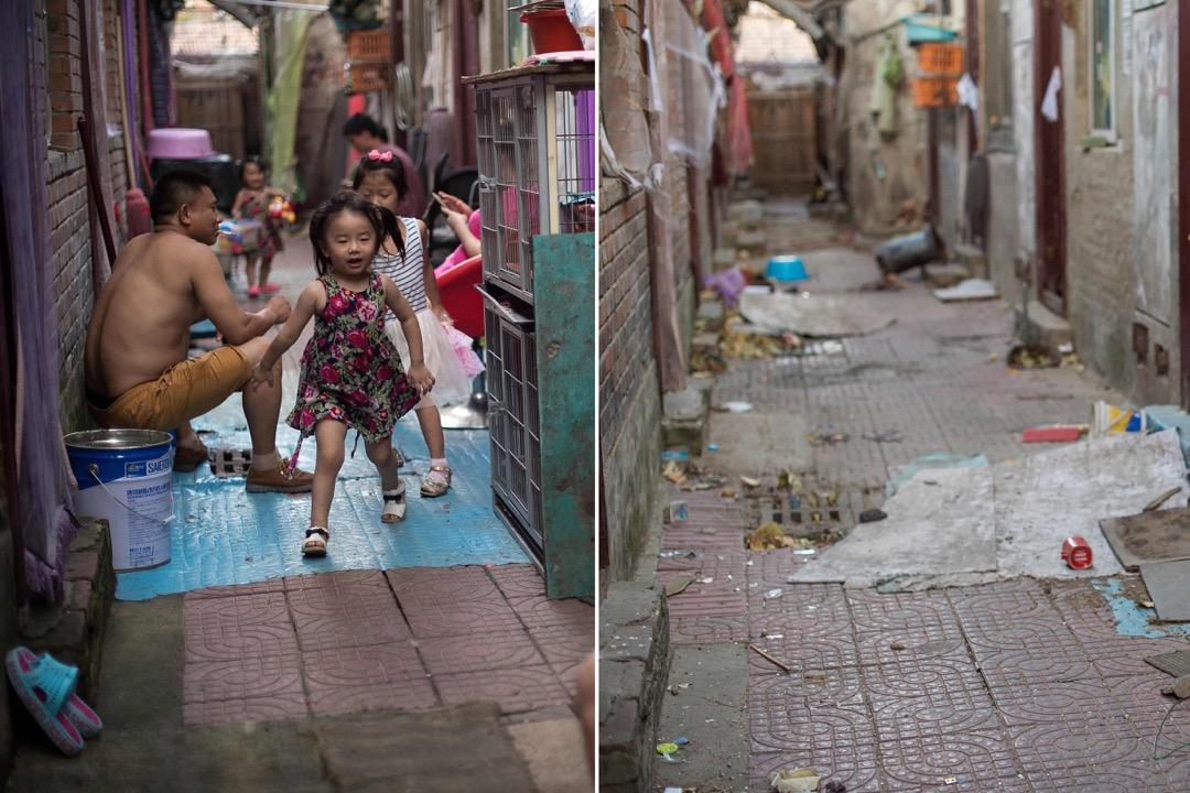 村子裏曾經人來人往的街道,如今已空無一人,屋子都被政府的封條封起來。 攝:Nicolas Asfouri/AFP/Getty Images