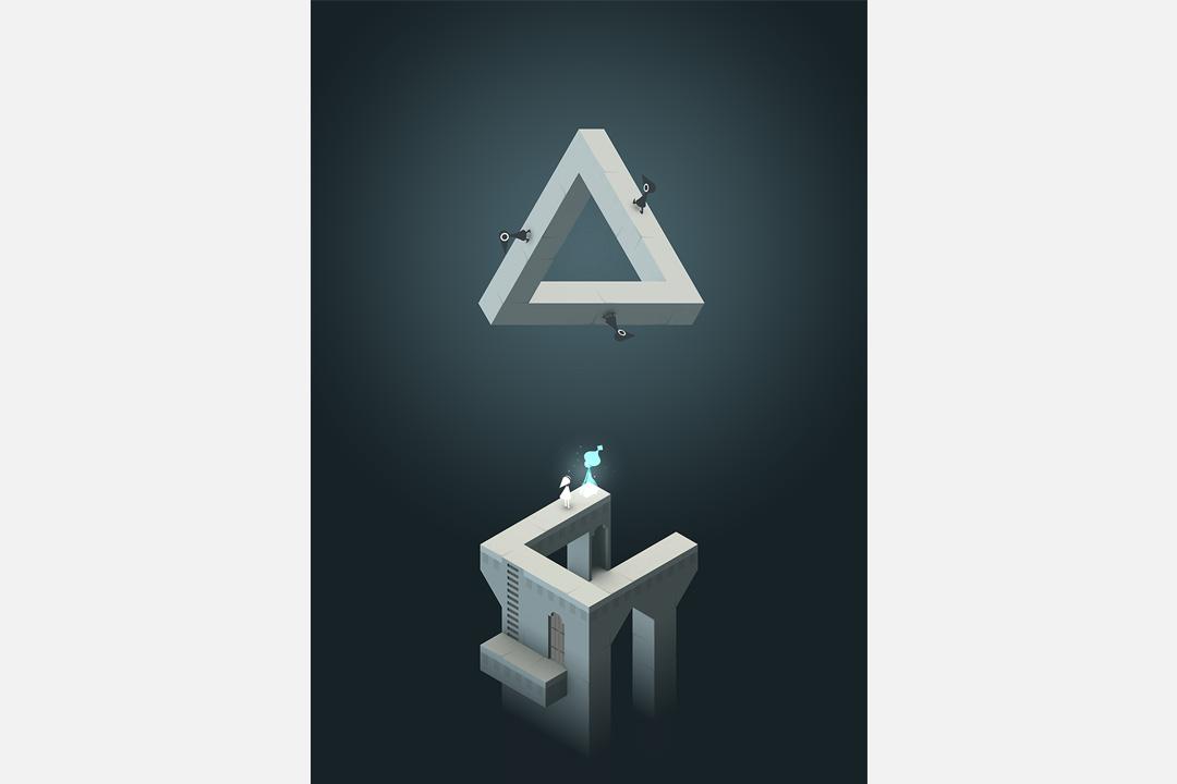 《紀念碑谷》大量利用潘洛斯三角構造機關暗道。