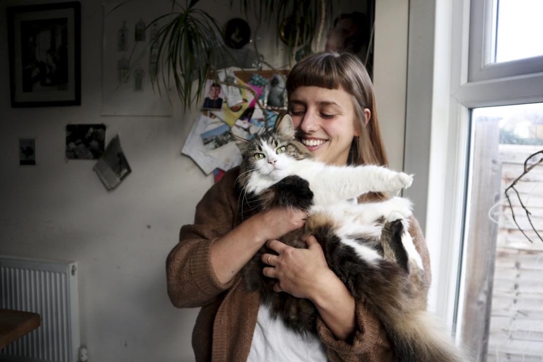 27歲的McAusland在Peckham區住了接近5年,她與另外五 個朋合租位於Brockley的兩層維多利亞式房屋。 攝:Samwai Lam/端傳媒