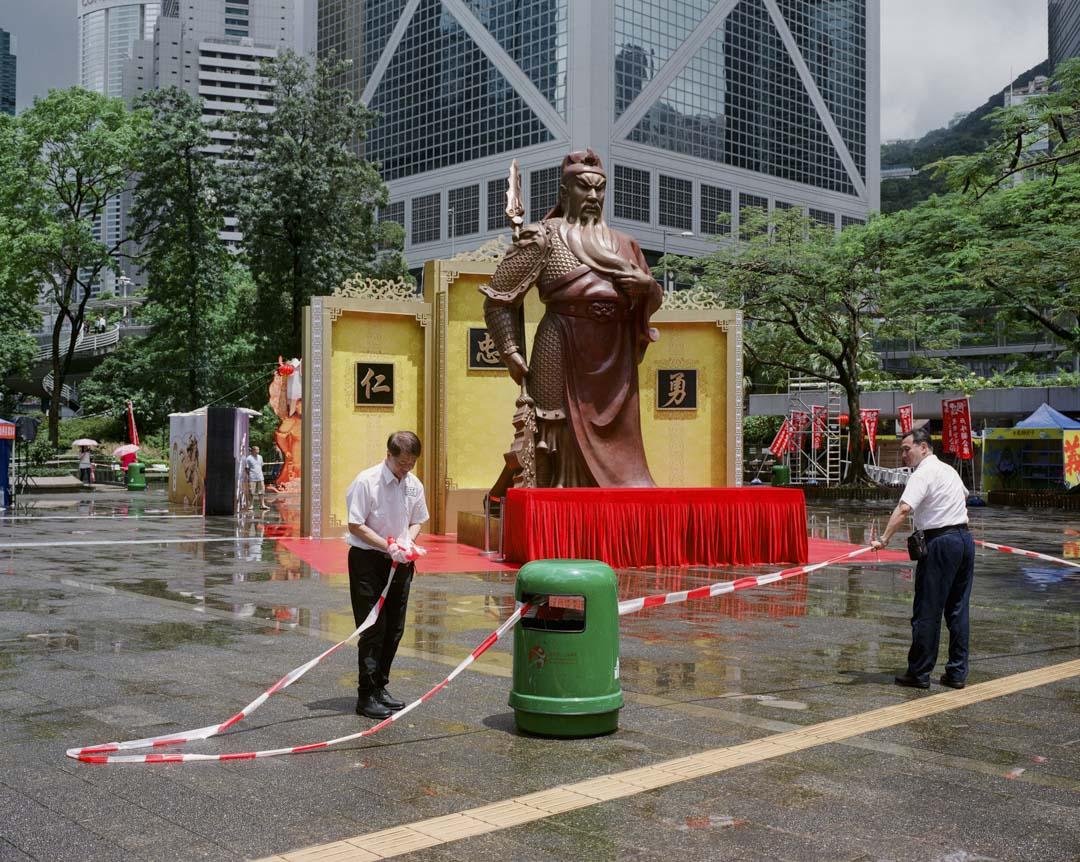 2017年6月,香港舉辦首屆「關公節」,20尺高的關公像竪立在中環遮打花園。