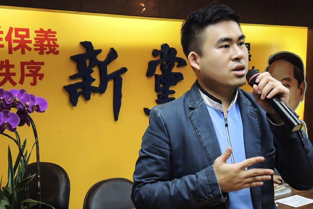 台灣新黨發言人王炳忠因被指涉嫌違反《國安法》,調查局人員及警方12月19日早上到其寓所入屋搜查,並將他帶走協助調查。 圖片來源:王炳忠 Facebook